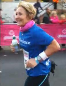 Hilda completes her first marathon