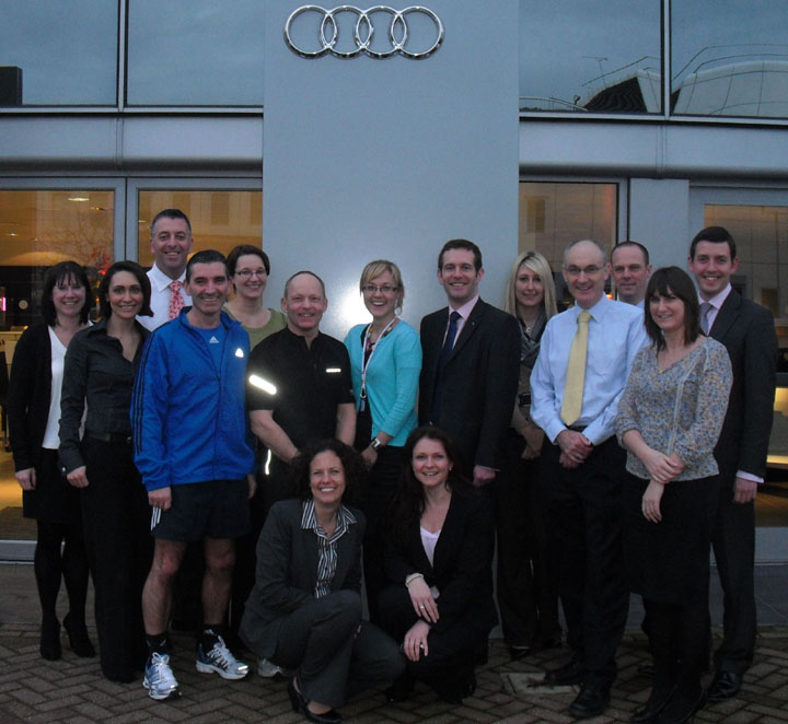 Nick and the Audi Half Marathon team