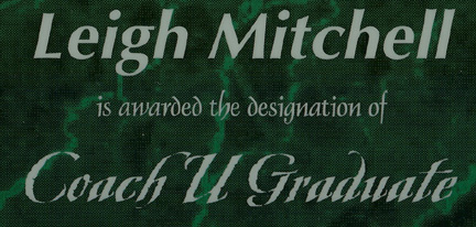 Leigh Mitchell, CoachU Graduate